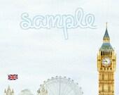 London Calling Writing Paper and Envelope Printable