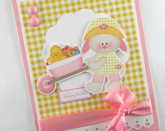 Easter cards, girls easter card, 1st easter card, first easter card, kids easter cards, childrens easter, easter bunny card, easter chick
