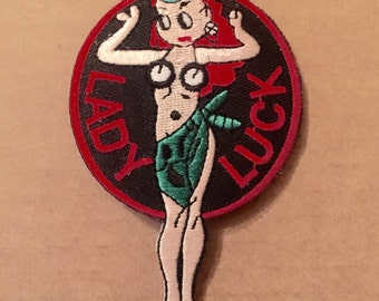 Authentic 1950s-60s Lucky Lady 3 B-52 Pride Crew Patch