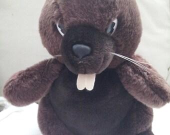 RARE Vintage Beaver Stuffed Toy BEAVER LUMBER Mascot Canadian 1980's