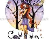 Autumn Witch 8.5x11 PRINT by Amy Brown