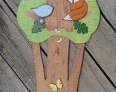 WOODLAND FAMILY TREE Growth Chart - Hand Painted Wood - Personalized  Keepsake - Twins