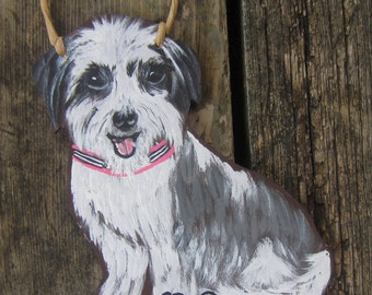 HAVANESE DOG SIGN - No Soliciting Sign/Remove Shoes Sign/Welcome - Original Hand Painted Wood - Custom Dog Portrait