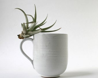Stoneware Mug - white over brown clay