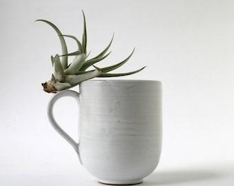Stoneware Mug - white over brown clay