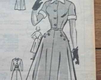 vintage 50s Anne Adams mail order pattern 4795 misses DRESS sz 16  bust 34 uncut unprinted pattern