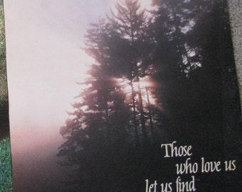 Vintage Argus Poster 1980s Those Who Love Us Inspirational Saying Trees Sunrise Landscape