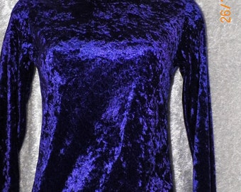 Nice Deep Purple Velour Velvet Slinky Show Top