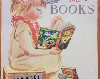 Beautiful vintage Children's Book Week poster from 1959... by Feodor Rojankovsky