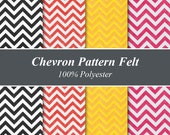 "Chevron Pattern Felt Sheets - 12"" X 12"", Multiple Pack Sizes Available"