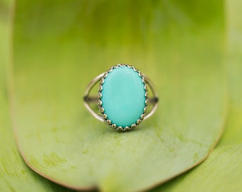 Turquoise Statement Ring/ Be Positive/ Jewelry with Meaning/ Inspirational Gift/ Vintage Inspired Ring/ Inspirational Gift