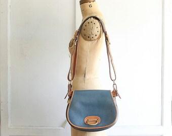 vintage Dooney bag cadet blue 80s rare