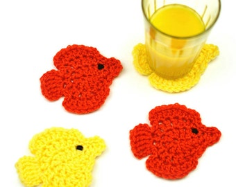 Fish Coasters - PDF Crochet Pattern - Instant Download