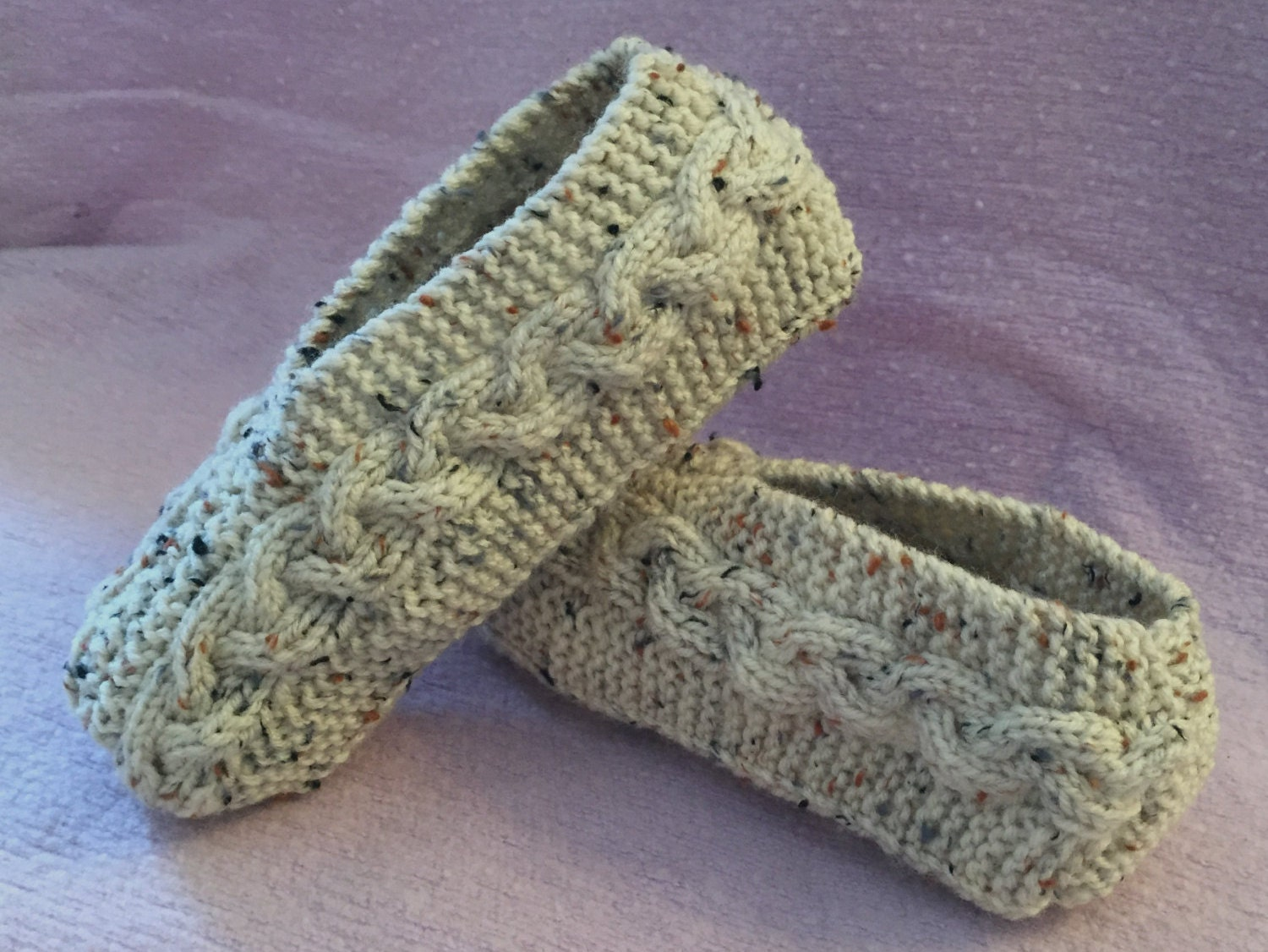 Cable Knit Socks Pattern : Cable Knit Slippers Tutorial Knitting Pattern for Kindle