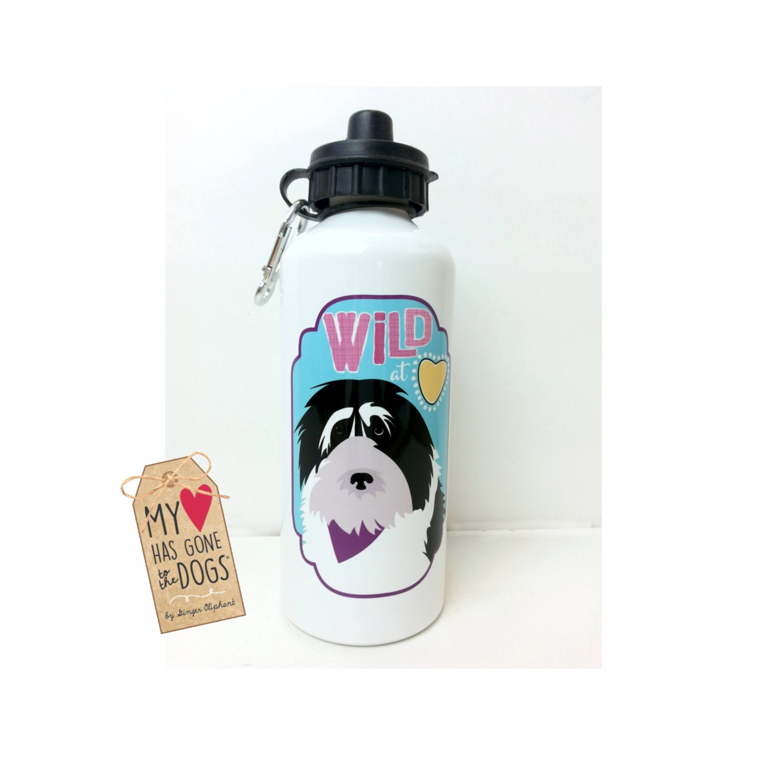 Wild at Heart Water Bottle Dog Water Bottle by GoingPlaces2