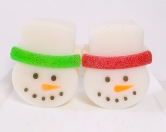 Snowman Soap - Christmas Soap, Soap Favors, Soap for Kids, Dessert Soap, Novelty Soap, Teacher Gifts, Kids Stocking Stuffer