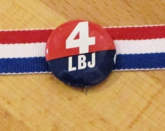LYNDON JOHNSON 1964 Campaign Pin, Campaign Button
