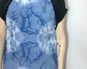 handmade indigo dyed shibori adjustable full apron