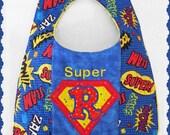 Personalized Superhero bib