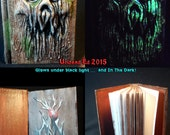 Necronomicon Treant Book of the Enchanted Forest 4X6 250 paged Sketch Book by Undead Ed Glows in the Dark