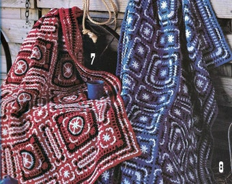 Western Warmth Afghan Patterns, All Crochet Designs, 8 Patterns, Awesome Western Flair, Crochet Book
