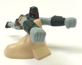 1990s Star Wars Boba Fett Balancing Toy with Stand - Return of the Jedi Special Edition Taco Bell Kids Meal Promo Toy - Star Wars Kids Toy