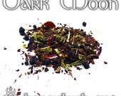 Dark Moon Tea - loose leaf honeybush tea, mugwort tea, mixed berry tea, pagan gifts, Wiccan altar, dark moon, new moon, banishing magic