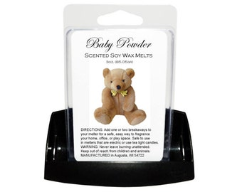 BABY POWDER Soy Melts - Wax Tarts - Soy Tarts - Candle Tarts - Melting Tart - Scented Tart - Tart Melt - Wax Melt - Clamshell - Dye Free