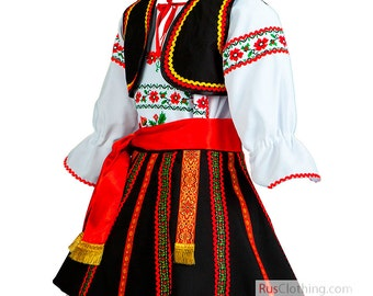 ROMANIAN dress national clothing of Romania folk dance costume historical Moldova dress ethnic clothes traditional attire hungarian folk art