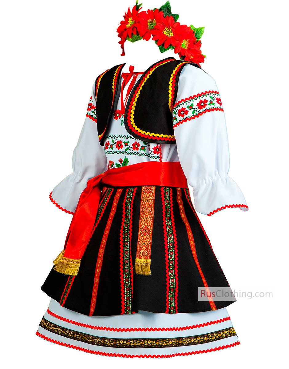 ROMANIAN dress national clothing of Romania folk dance costume