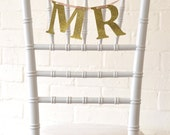 Glitter Mr and Mr wedding signs or banner