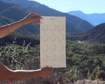 2017 Moon Calendar - Gold Foil on White Edition