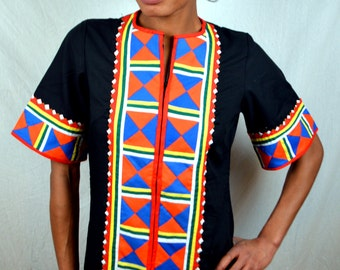 Vintage Embroidered Ethnic  Applique Patchwork Thailand Thai Maxi Dress