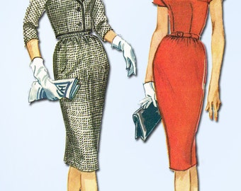 1960s Vintage McCalls Sewing Pattern 5507 Misses Sheath Dress and Jacket Size 12