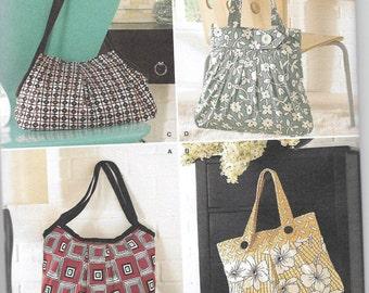 Uncut Sewing Pattern, Simplicity Craft 2685 or 0578, Misses, Purse, Bag, Tote, Shoulder, Fashion Accessories Vintage Fabrics, Pleats, Button