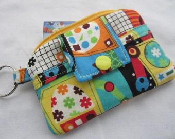 Zippy Zipper Wallet Pouch Key Robot Gears Card holder -