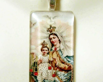 Our Lady of Mount Carmel pendant with chain - GP01-006