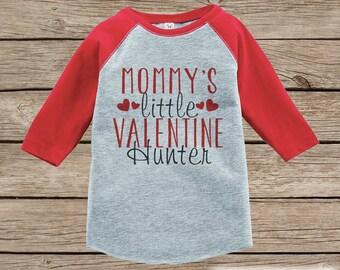 Boy's Valentines Day Outfit - Red Raglan Shirt - Mommy's Little Valentine Onepiece - Valentine Shirt for Baby Boys - Valentines Raglan Tee