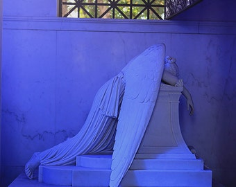 """New Orleans Angel Cemetery Photography - """"The Weeping Angel #1"""" fine art angel statue print picture home decor wall art 8x10, 11x14, 16x20+"""