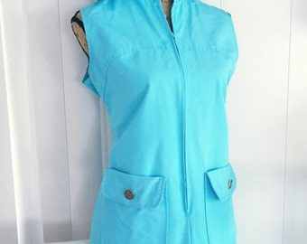 Vintage Turquoise Romper-Shorts and Matching Sun Hat -- 1950's 1960's Cuteness