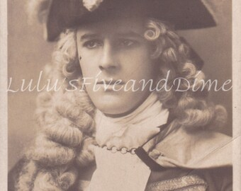 Vintage Real Photo Postcard of Edwardian Actor Gerald Lawrence