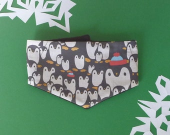 Fleece and Fabric Bandana,  Penguin Fabric, Toddlers and Kids