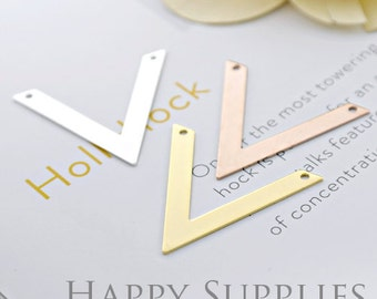 High Quality V-shaped Pendant Charms / Connector with a Two Hole (ZG190)