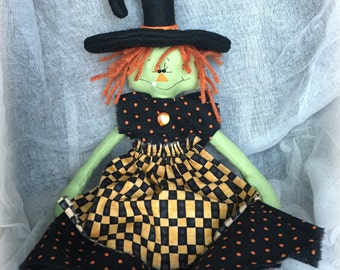Primitive Halloween Witch | Halloween decoration | Witch for Halloween | Halloween witch doll | Halloween home decor | Halloween wall decor