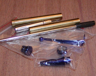 Fancy Slimline 7mm Pen Turning Kit Blue/Purple Colored Components New In Package