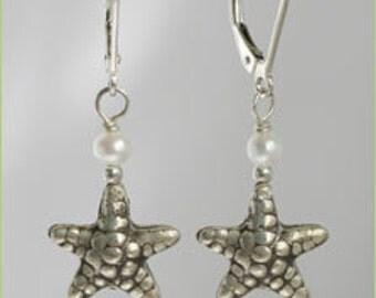 Starfish and Pearl Dangles