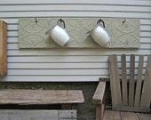 Antique Ceiling Tin Coat Hooks, Towel Hook, Hat Rack, Entry way coat hooks, Gray furniture, Vintage ceiling tile, Vintage wall decor