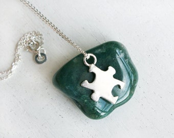 Sterling Silver Puzzle Necklace