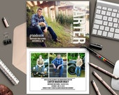 Graduation Invitation Announcements - 4 photos - modern masculine graduation cards