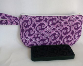 Small Phone/Credit Card Wristlet Purple ...The Sasha Collection
